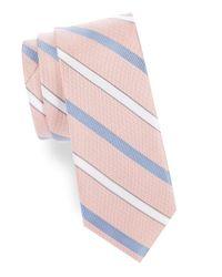 Cole Haan | Pink Striped Silk Tie for Men | Lyst