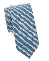Cole Haan - Blue Silk-blend Striped Tie for Men - Lyst