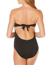 Laundry by Shelli Segal - Black Aztec Oasis Strapped Bandeau One-piece Swimsuit - Lyst
