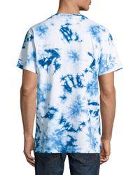 lyst reason tiedye logo tee in blue for men