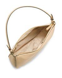 Calvin Klein Natural Leather Crossbody Hobo Bag