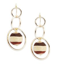 Lord & Taylor | Metallic Tiered Circle Drop Earrings | Lyst
