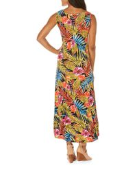 Rafaella - Black Floral Sleeveless Maxi Dress - Lyst