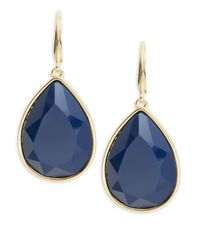 Trina Turk | Blue Brass Drop Earrings | Lyst