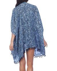 Polo Ralph Lauren | Blue Open Front Kimono | Lyst