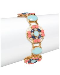 Kate Spade - Multicolor Jeweled Tile Stone Accented Bracelet - Lyst