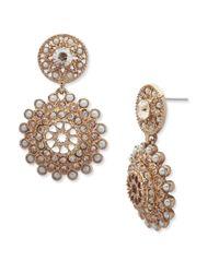 Marchesa - Metallic Faux Pearl Drop Earrings - Lyst