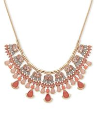 Ivanka Trump - Pink Tassel Accented Statement Necklace - Lyst