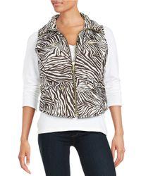 MICHAEL Michael Kors | Multicolor Petite Packable Zip-front Vest | Lyst
