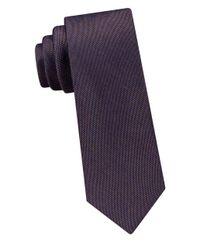 Calvin Klein | Blue Textured Tie for Men | Lyst