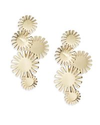 Trina Turk   Metallic Sunburst Cluster Drop Earrings   Lyst