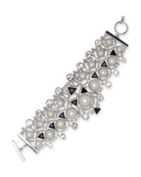Givenchy - Metallic 2mm-14mm Faux Pearl Flexible Drama Bracelet - Lyst