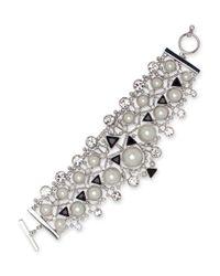 Givenchy | Metallic 2mm-14mm Faux Pearl Flexible Drama Bracelet | Lyst