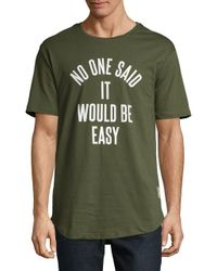 Reason - Green Text Graphic Tee for Men - Lyst