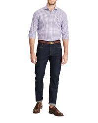 Polo Ralph Lauren - Purple Slim-fit Plaid Casual Button-down Cotton Shirt for Men - Lyst