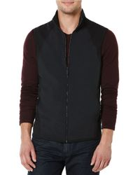 Perry Ellis | Black Big And Tall Zip Front Vest for Men | Lyst