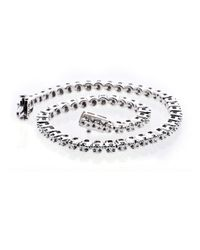 Lord & Taylor   Metallic Diamond And Sterling Silver Tennis Bracelet, 0.52 Tcw   Lyst