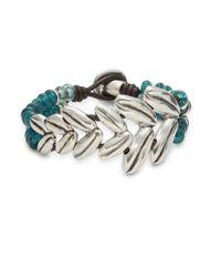 Uno De 50   Metallic Espica Leather Strand Bracelet   Lyst