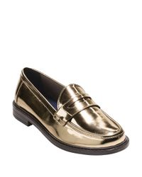 Cole Haan - Metallic Pinch Campus Loafers - Lyst