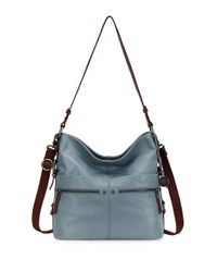 The Sak | Blue Sanibel Leather Bucket Hobo Bag | Lyst