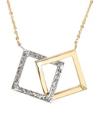 Lord & Taylor | 14k Yellow And White Gold Pendant Necklace | Lyst