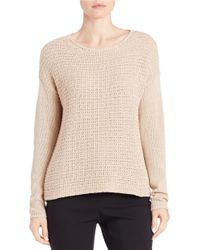 Lord & Taylor   Pink Loose-knit Sweater   Lyst