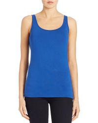 Lord & Taylor | Blue Iconic Fit Tank Top | Lyst