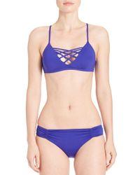 L*Space | Blue Jamie Bikini Top | Lyst