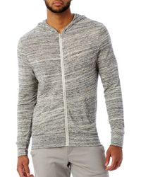 Alternative Apparel Gray Eco Zip Hoodie for men