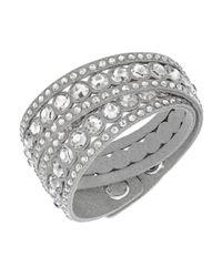 Swarovski - Gray Crystal Slake Wrap Bracelet - Lyst