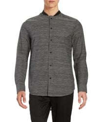 Mattson | Gray Elongated Space-dyed Sportshirt for Men | Lyst