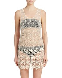 J Valdi | Natural Crocheted Tank Cover-up | Lyst