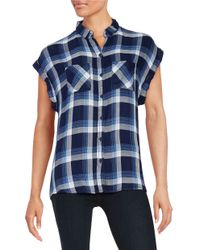 Beach Lunch Lounge | Multicolor Plaid Button-front Top | Lyst
