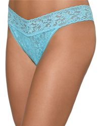 Hanky Panky | Blue Original Rise Lace Thong | Lyst