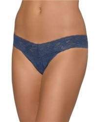 Hanky Panky | Blue Low Rise Lace Thong | Lyst