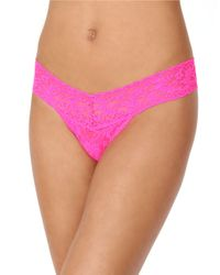 Hanky Panky | Pink Low Rise Lace Thong | Lyst