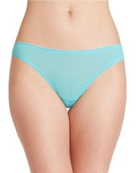On Gossamer | Blue Low Rise Mesh Hip-g Thong | Lyst