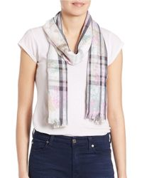 Lord & Taylor   Pink Two-patterned Scarf   Lyst