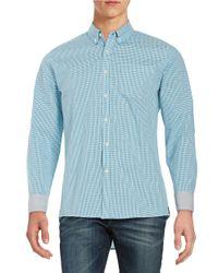 Kenneth Cole | Blue Checkered Sportshirt for Men | Lyst