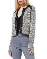 Miss Selfridge Black Boucle Jacket