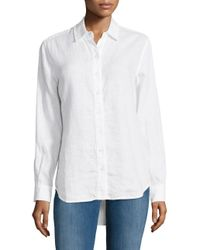 Lord & Taylor - White Linen Button-down Shirt - Lyst