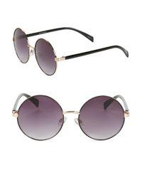 Steve Madden - Purple 50mm Round Sunglasses - Lyst