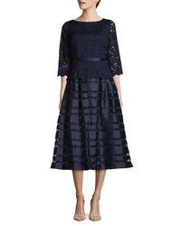 Alex Evenings | Blue Semi-sheer A-line Dress | Lyst