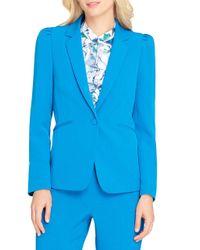 Tahari - Blue Notched One-button Blazer - Lyst