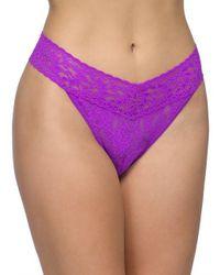 Hanky Panky - Purple Lace Thong Panties - Lyst