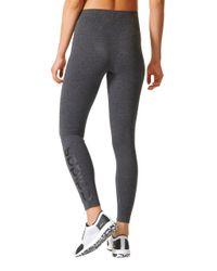 Adidas Gray Essentials Linear Tights