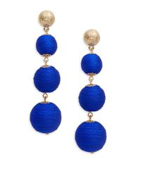 Lord & Taylor - Blue Ball Drop Earrings - Lyst