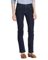 Lauren by Ralph Lauren Black Super Stretch Slimming Classic Straight Jeans