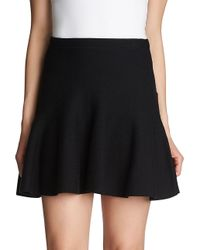 1.STATE - Black Flounce Cotton Mini Skirt - Lyst