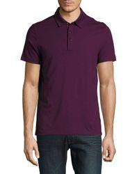 Michael Kors | Purple Cotton-blend Polo Shirt for Men | Lyst